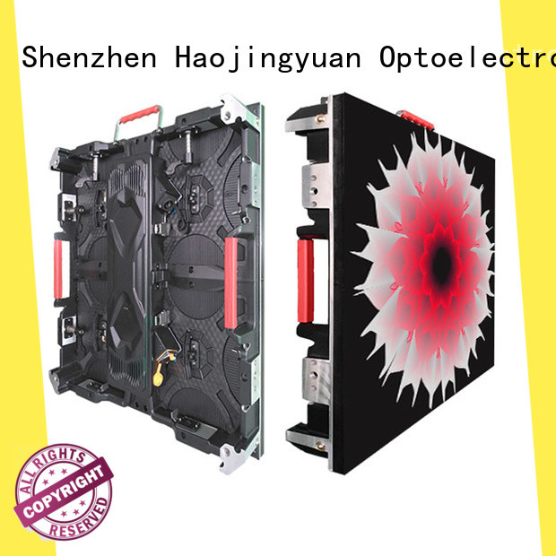 Haojingyuan different style small pixel led display indoor for building