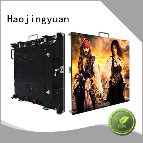 Haojingyuan display small pixel led display indoor for sea port