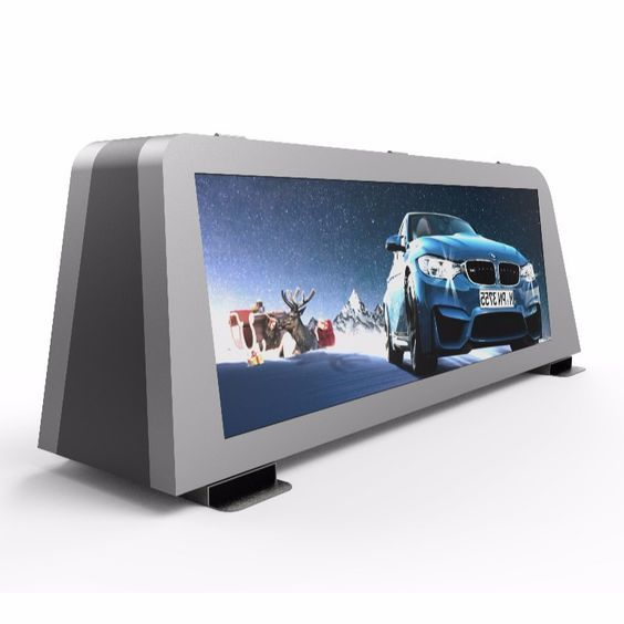 video advertising P5 outdoor taxi top led display