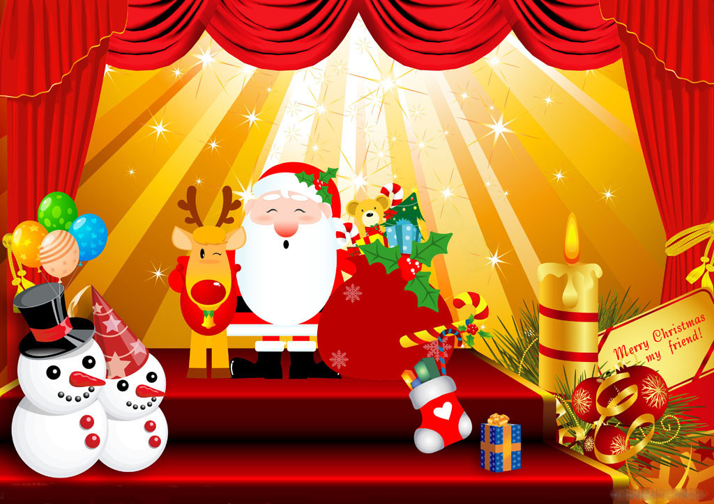 advertising outdoor led display screen billboard--Merry Christmas