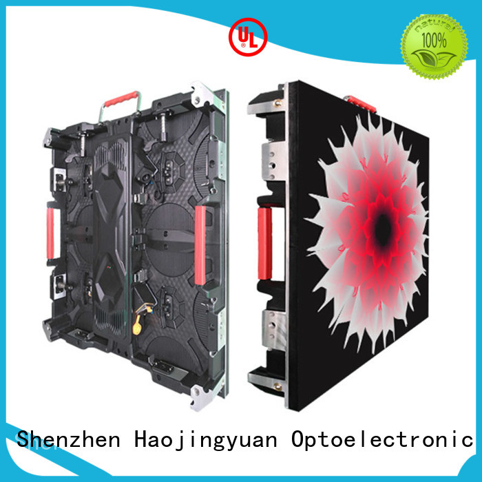 Haojingyuan definition high definition led screens configuration for building