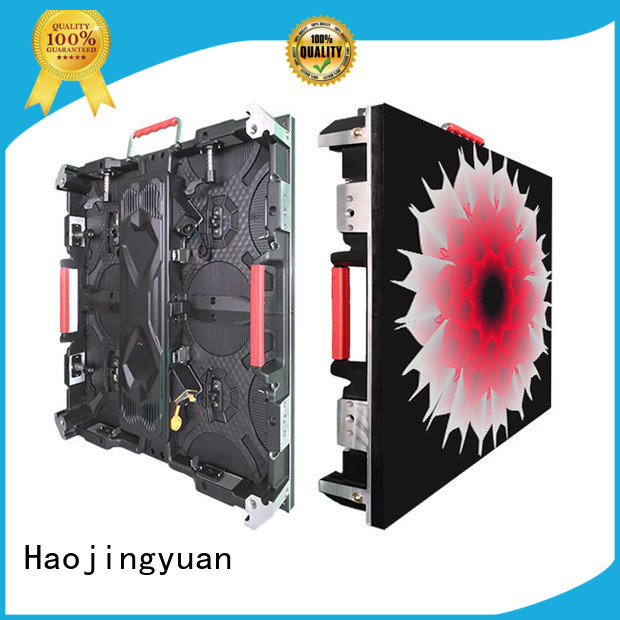 Haojingyuan different style high definition led display configuration for sea port
