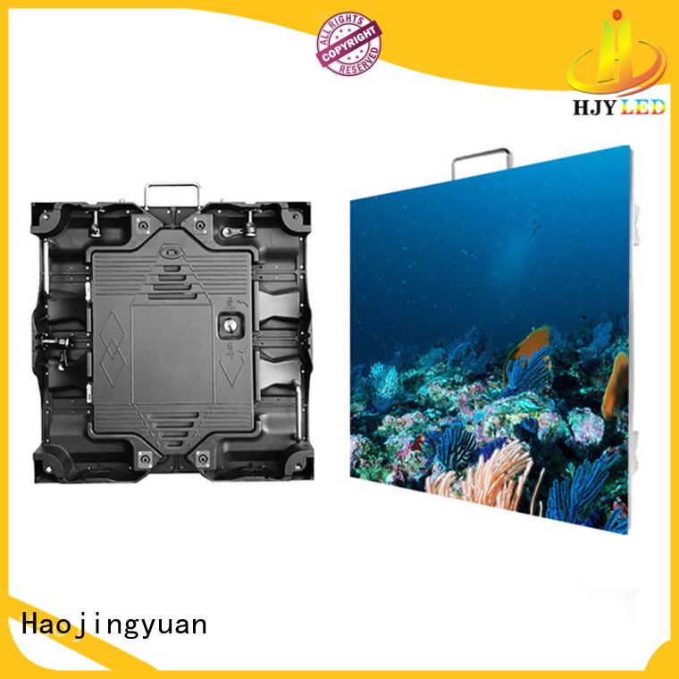Haojingyuan different style small pixel led display configuration for sea port
