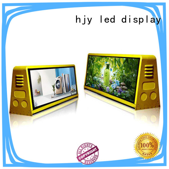 Haojingyuan p6 mobile led display technology available for birthday party