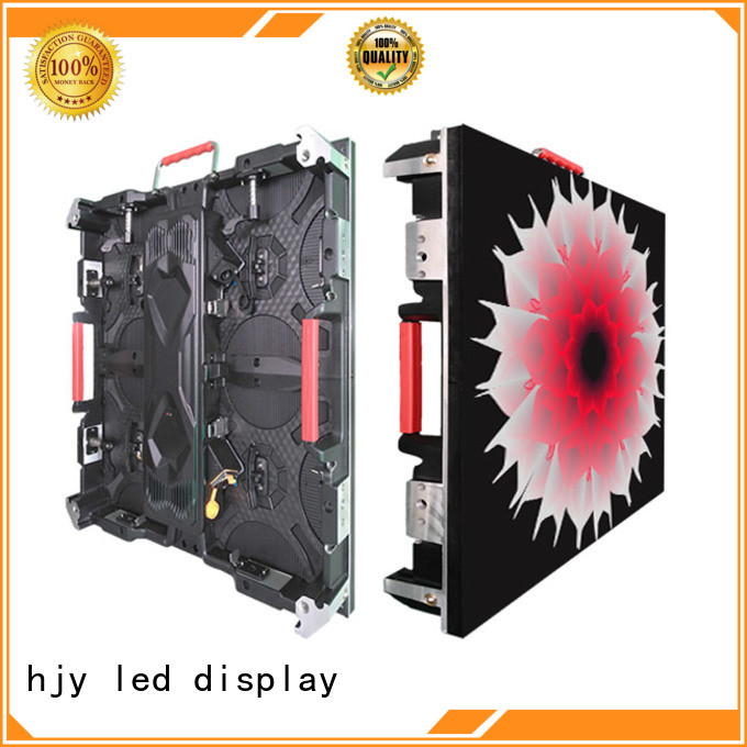 Haojingyuan good quality high definition led display configuration for taxi