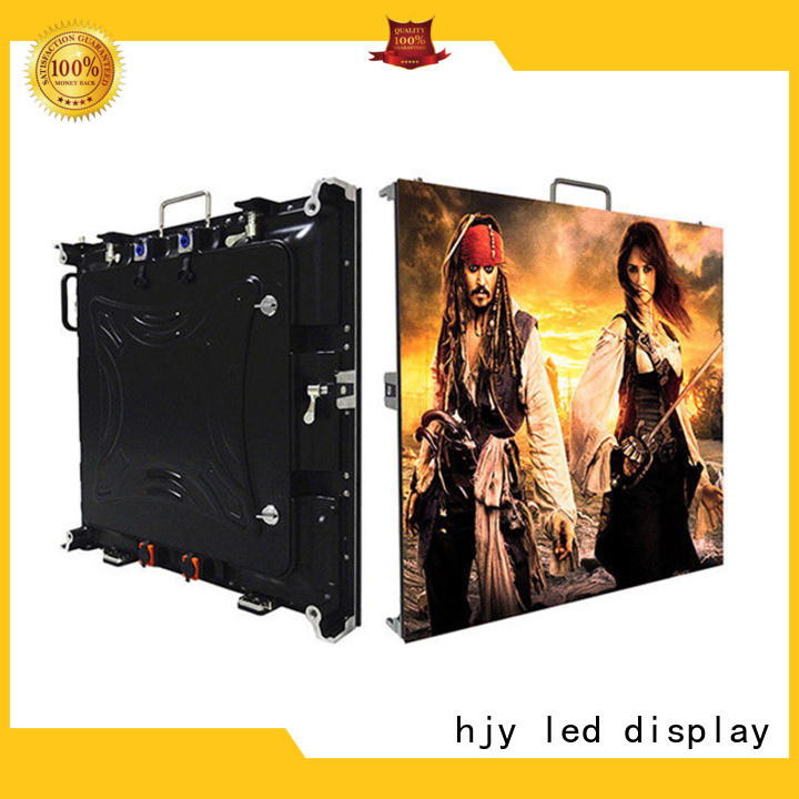 Haojingyuan different style small pixel led display configuration for building