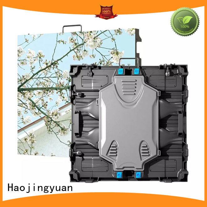 Haojingyuan good quality small pixel led display manufacturer for building