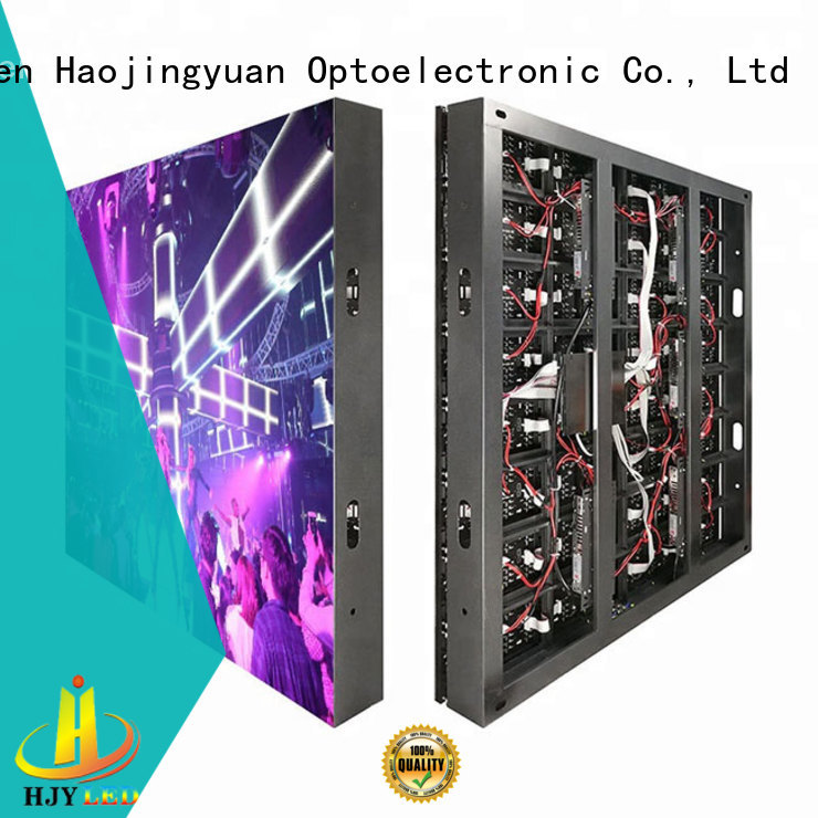 Haojingyuan customized indoor led display outdoor use for hotels