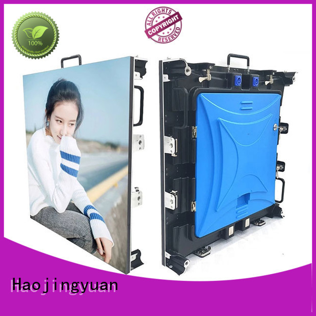 Haojingyuan simple outdoor stage rental LED vivid colors for stadium
