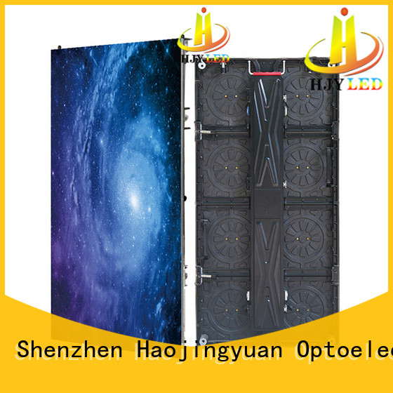 Haojingyuan simple outdoor stage rental LED from China for shopping mall
