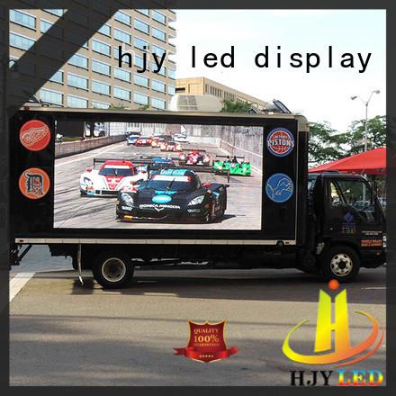 Haojingyuan mall mobile led display custom outdoor for school