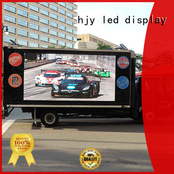 Haojingyuan modern design mobile led display custom outdoor for birthday party