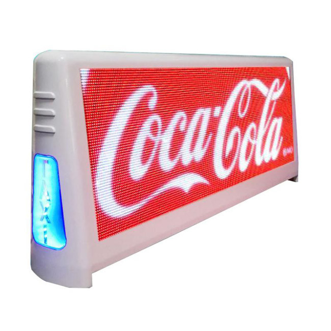 Waterproof taxi top sign P5 outdoor 4500nits high brightness led display