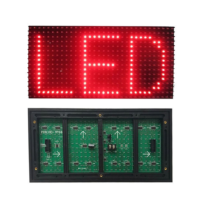 Single color led module P10 outdoor DIP red green blue white led display module