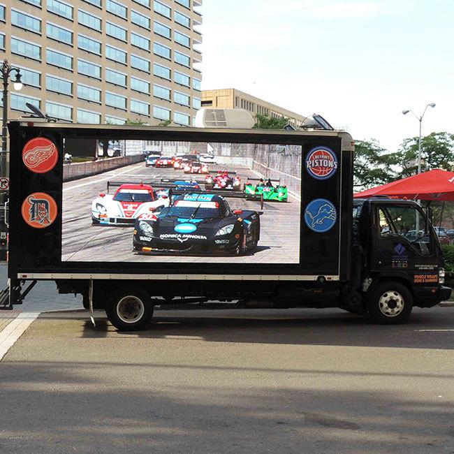 P6 outdoor truck led display
