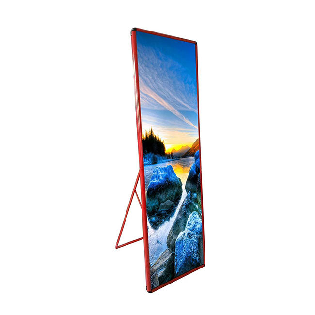 Hot sale advertising poster mirror led display P2.5 indoor waterproof cloth shop use led screen