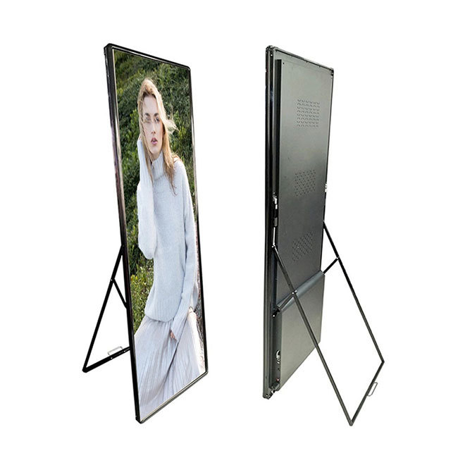 P2.5 mobile led display indoor shopping mall advertising poster screen