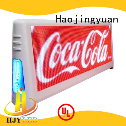 Haojingyuan durable taxi top led display wholesale suppliers for wedding