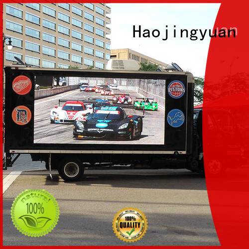 Haojingyuan p6 mobile led display manufacturers for for house