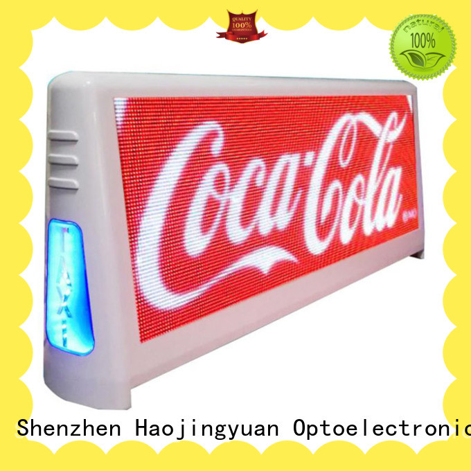 Haojingyuan 4500nits taxi led display company for restaurant