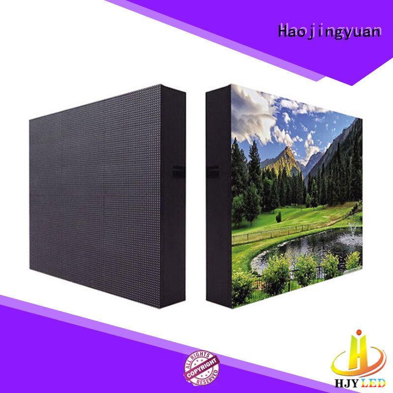 Haojingyuan unique design advertising led display fixed theme parks for hotels