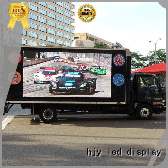Haojingyuan modern design truck led display factory sale for for house