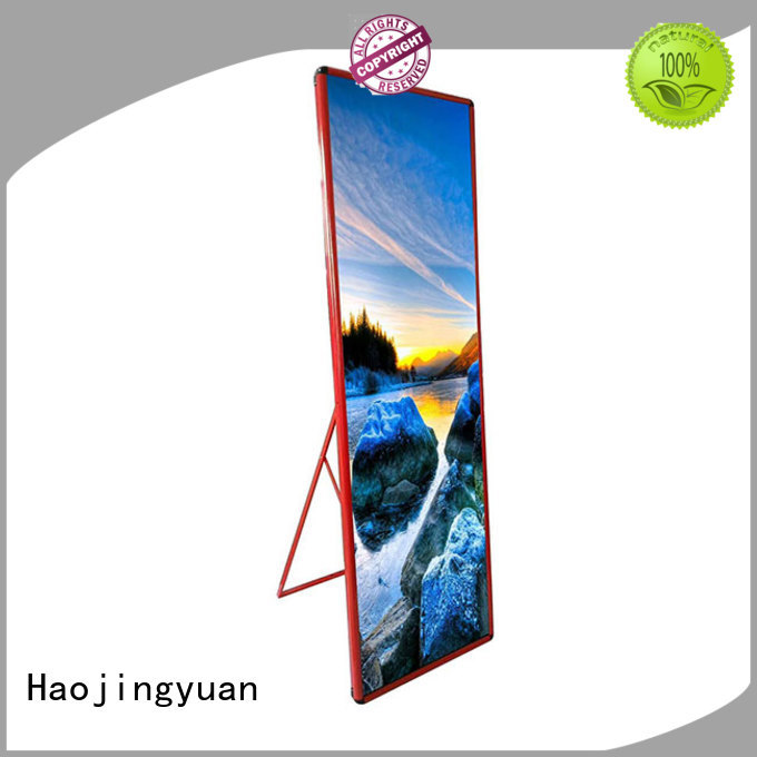 Haojingyuan different style Mirror led display manufacturer for stadium