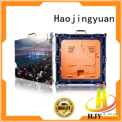 Haojingyuan definition high quality led screen manufacturer for building