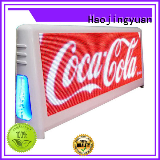 Haojingyuan led taxi top led display applications for wedding