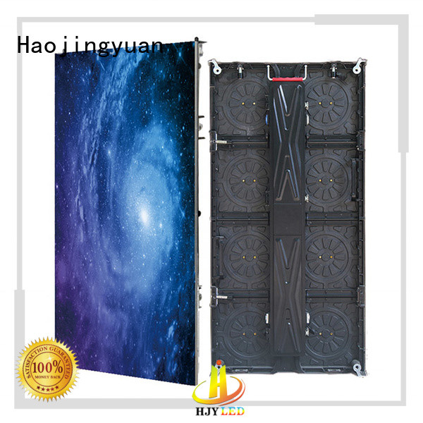 Haojingyuan higher efficiency led screen on stage directly sale for shopping mall