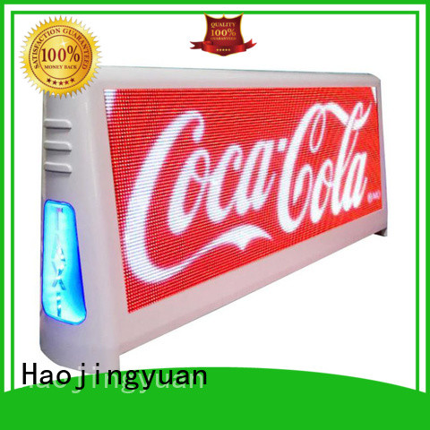 Haojingyuan led taxi led display products for restaurant