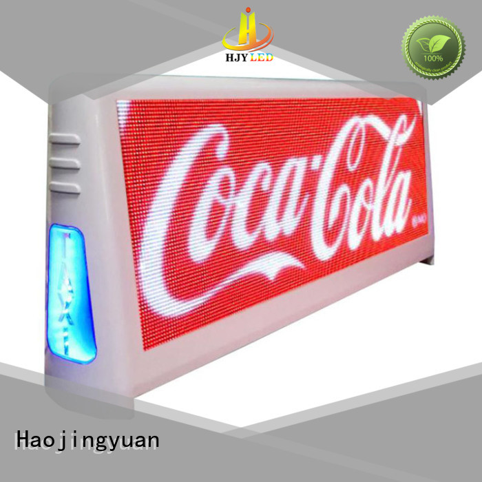 Custom taxi led display sign factory for restaurant