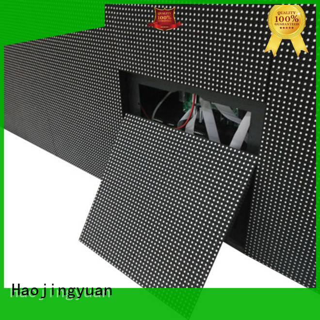 Haojingyuan unique design indoor fixed led screen promotion for lobby