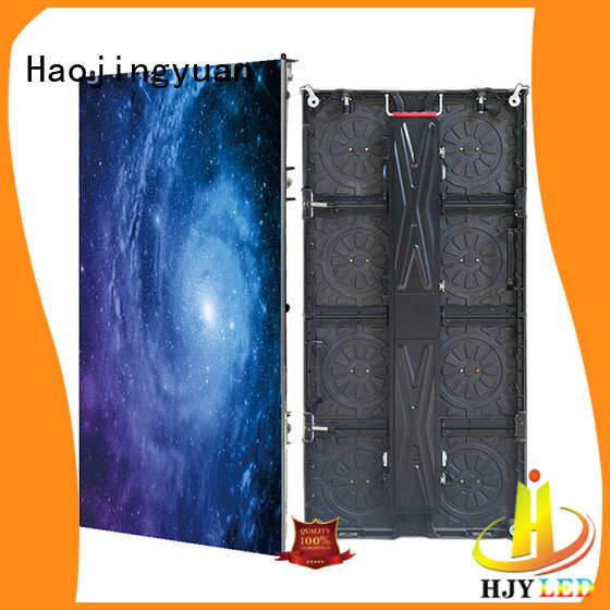 Haojingyuan simple led screen on stage vivid colors for concert