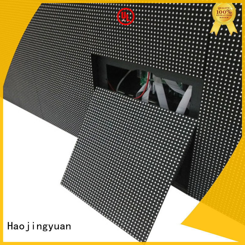 Haojingyuan modern indoor fixed led screen theme parks for lobby