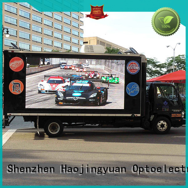 Haojingyuan widely used truck led display factory sale for birthday party