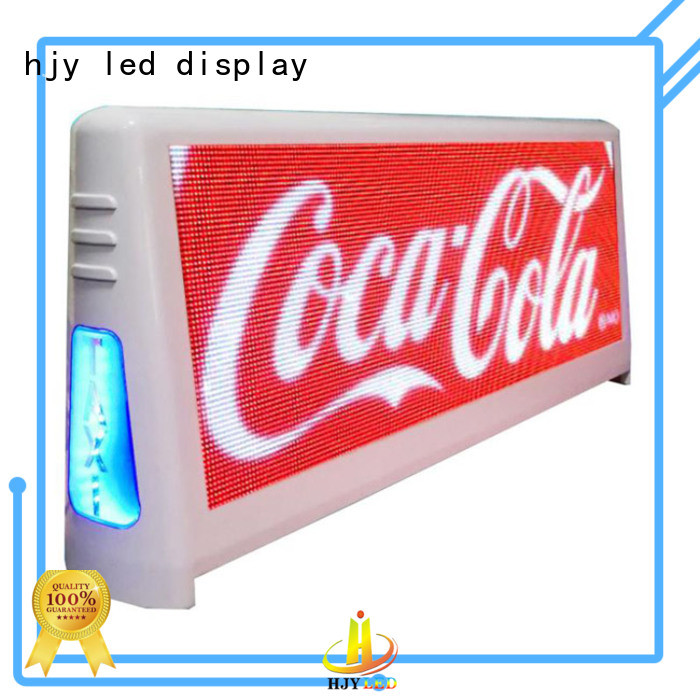 Haojingyuan waterproof taxi top led display Suppliers for shopping mall