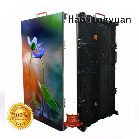 Haojingyuan higher efficiency stage led screen from China for stadium