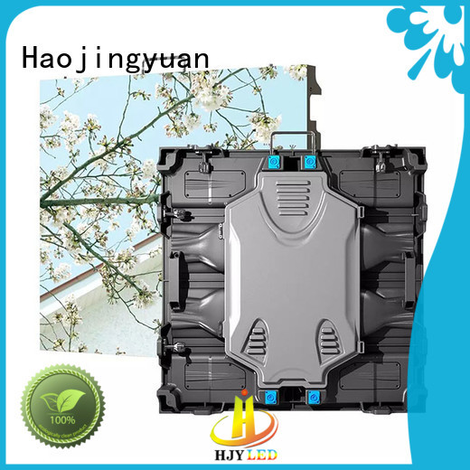 Haojingyuan backdrop high resolution led display for business for building