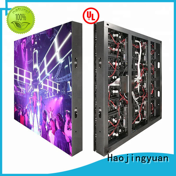 Haojingyuan modern led display fixed outdoor use for lobby