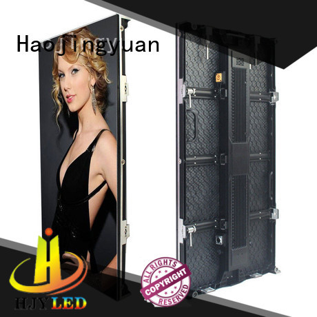 Haojingyuan New stage rental led display manufacturers for shopping mall