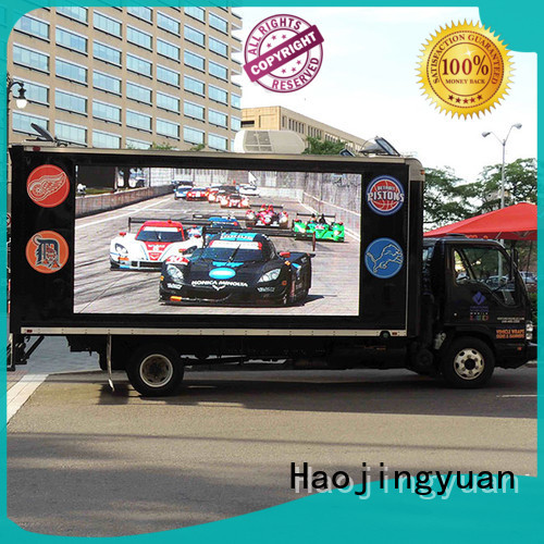 Haojingyuan widely used truck advertising mobile led display custom outdoor for school
