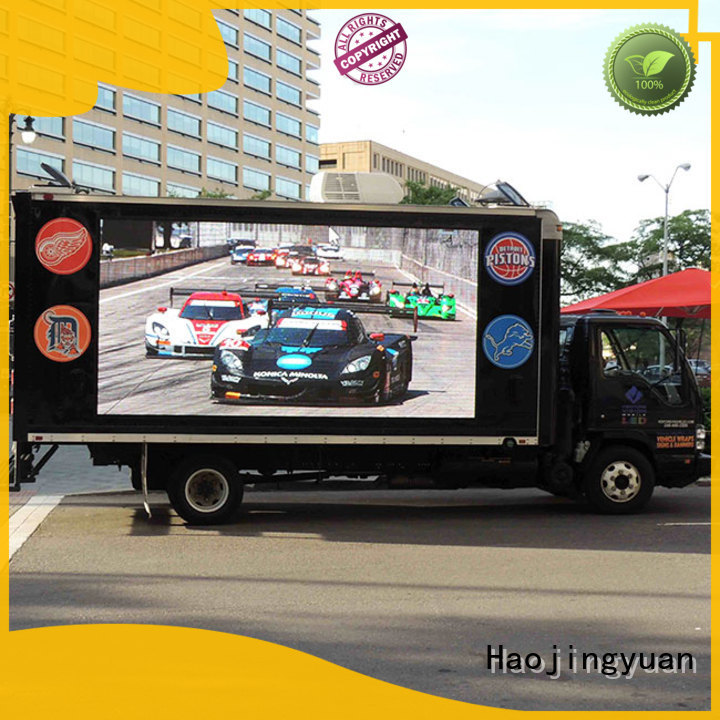 Custom truck led display wireless for business for school