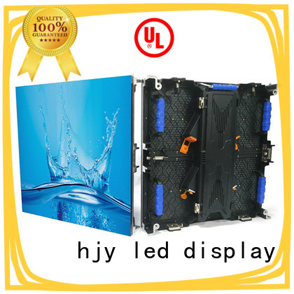 Haojingyuan simple led screen on stage directly sale for shopping mall