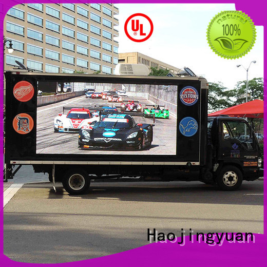Haojingyuan widely used mobile led display custom outdoor for birthday party