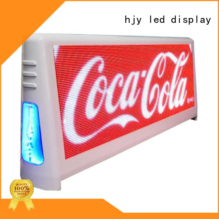 taxi roof led display display for wedding Haojingyuan