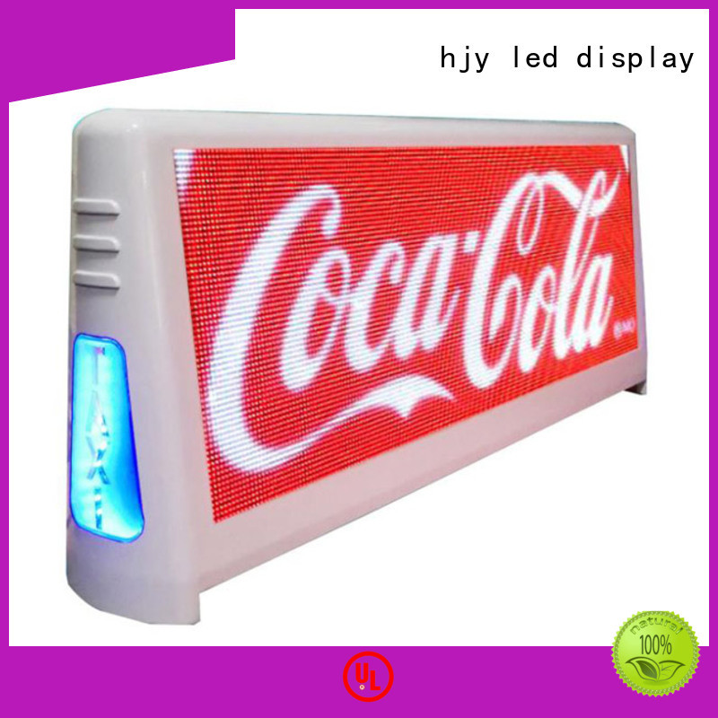 technical taxi top led display display products for shopping mall