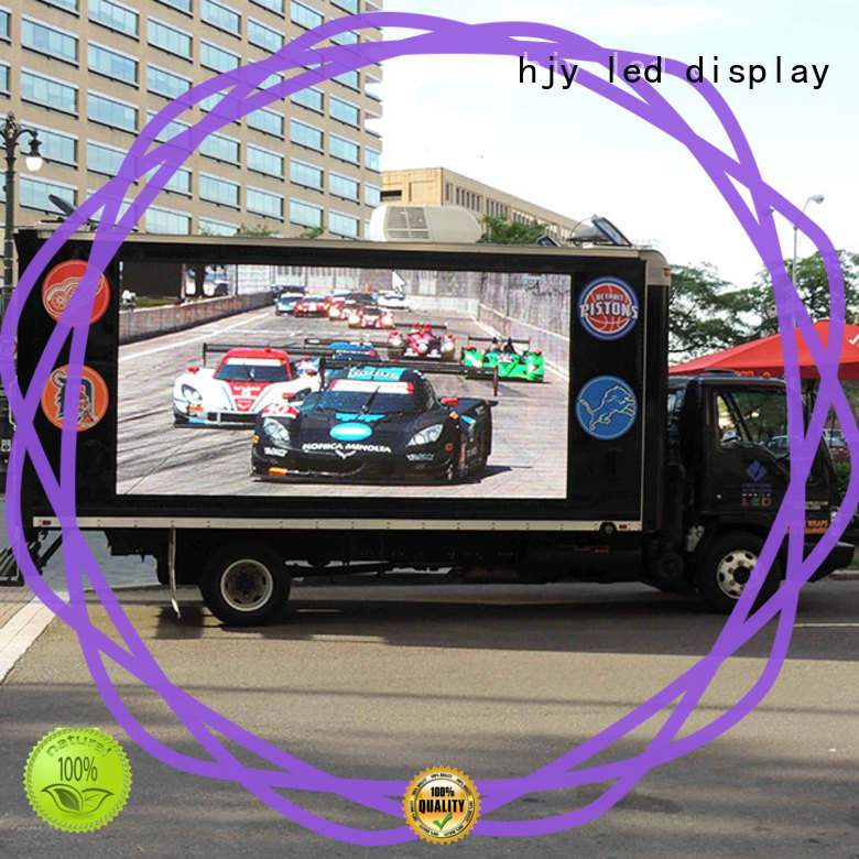 Haojingyuan fashionable truck advertising mobile led display custom outdoor for for house