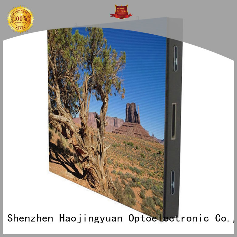 Haojingyuan color led display sign led fixed company for hotels
