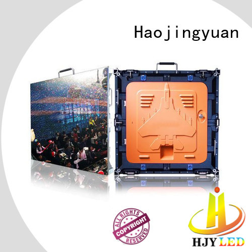 Haojingyuan rental high definition led screens configuration for sea port